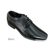 Men's Elegant Synthetic Oxfords Striped Party Wear Shoes #5754 Size 8.5 - 13