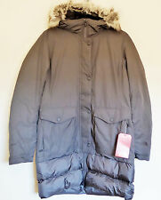 The North Face Women's TUVU Parka 550-Fill Down Jacket Trench Coat Grey M 10-12