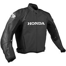 BLACK HONDA Racing Motorbike Leather Jacket MOTOGP Motorcycle Leather Jackets