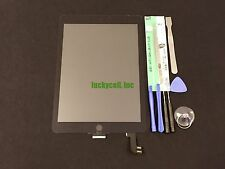 Black iPad Air 2 A1566 A1567 Adhesived Front Glass Touch Screen Digitizer +Tools