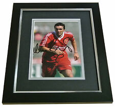 Neil Ruddock Signed 10x8 FRAMED Photo Autograph Display Liverpool PROOF & COA