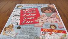 1950's VERY RARE Ideal BETSY WETSY Doll Box INSERT Leaflet (Reproduction)