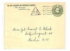 AZ347 c1930 GB Tea Importers London Germany Berlin Postal Stationery Cover PTS