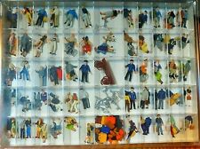 Preiser HO #13000 Assorted Painted Figures 100/ -- Railroad Personel, Travelers