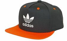 Adidas originals flat brim snap back baseball cap hat mens womens one size black