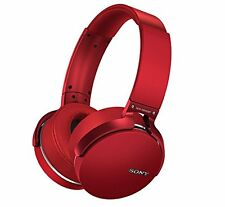 Sony MDR-XB950BT/R Extra Bass Bluetooth Wireless Headphones w/Microphone - Red