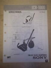 Sony Service Manual~ICB-1000 My First/Walkie Talkie Headphones~Original~Repair