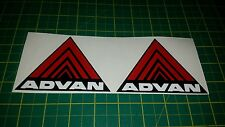 "2x 4 ""WIDE ADVAN PARAURTI PARAFANGO Adesivi Decalcomanie JDM Performance Honda Civic kanjo"
