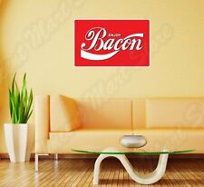 "Enjoy Bacon Coca Cola Funny Logo Slogan Wall Sticker Room Interior Decor 25""X18"""