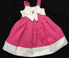 Gymboree Spring Social NWOT Sz 18-24 Months Easter Pink White Bow Dress