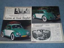 "1958 Volkswagen Rag Top Bug Article ""Love at First Sight"" VW"