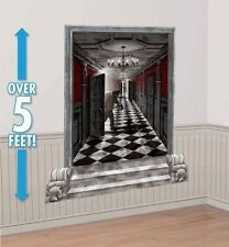 GOTHIC HALLWAY Scene Setter Mansion Hall Halloween Party Decorations Wall Decor