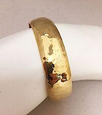 LADIES BANGLE BRACELET 14K KARAT YELLOW GOLD HAMMERED FINISH  22.6 Grams SALE!!