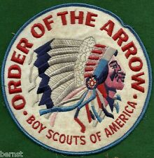 "BOY SCOUT 1960's BLUE ORDER OF THE ARROW 6"" JACKET PATCH"