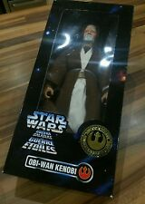 "OBI-WAN KENOBI 12"" Poseable 1997 Boxed Figure STAR WARS COLLECTORS SERIES Kenner"