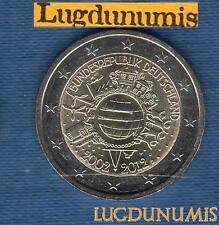 2 euro Commémo - Allemagne 2012 10 Ans de L'Euro D Munich Germany