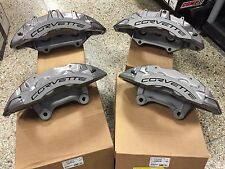 New GM OEM Brembo 2009-13 Chevy Corvette ZR1 Front & Rear Brake Calipers w/ Pads