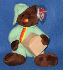 TY PACKER the BEAR BEANIE BABY - MINT with MINT TAG - UK EXCLUSIVE