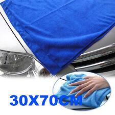 2 Pcs Blue Microfiber Towel Car Cleaning Wash Clean Cloth 70 X 30CM Economical