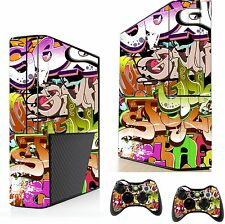 Graffiti Sticker/Skin xbox 360e Console & Remote controller stickers, xsk4