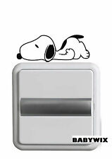 Vinilo decorativo interruptor luz-Snoopy#101#