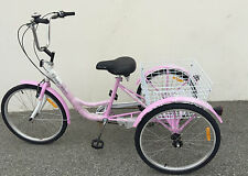 "Komodo 3 wheels Adult 24"" Tricycle 6 speed Pink"