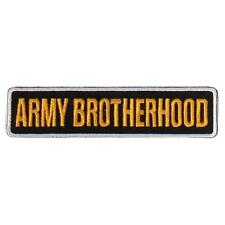 Army Brotherhood  EMBROIDERED 4 INCH IRON ON MC BIKER  PATCH