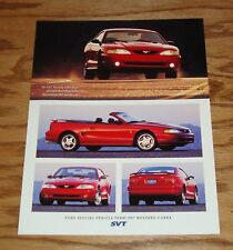 Original 1997 Ford Mustang SVT Cobra Fact Sales Sheet Brochure 97