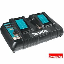 Makita DC18RD 18v Li-Ion Twin Port Rapid Battery Charger 240v + USB Charger