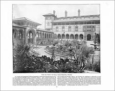 Court Ponce de Leon Hotel  St. Augustine Florida / CATSKILL NEW YORK 1897 PRINT