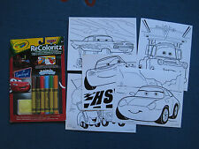 Cars Crayola reusable, washable, erasable colouring pages - 9 pages - GC