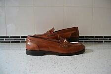 "STUNNING RUSSELL+BROMLEY TAN LEATHER ""BREWSTER SNAFFLE"" HORSE-BIT SHOES UK 8"