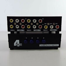 4 Port AV Switch RCA Switcher 4 In 1 Out Composite Video L/R Audio Box (T64)