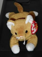 CT* Ty Beanie Baby ~ NIP the Gold Cat ~ MINT with CREASED TAG ~ RETIRED