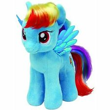 TY 19cm MY LITTLE PONY RAINBOW DASH BEANIES SOFT TOY WITH TAG - NEW