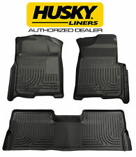 HUSKY WeatherBeater Floor Mats for 12-16 FORD F250 F350 F450 Crew Cab BLACK
