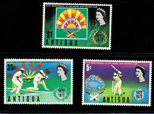 Antigua MNH 3v, Cricket, Sports, Queen, Maps  -N1