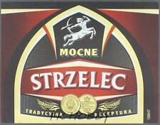 Poland Brewery Jędrzejów Strzelec Beer Label Bieretikett Centaur Horse je80.3