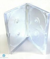 5 x 4 Way Clear DVD Multibox 15mm [4 Discs] Empty New Replacement Amaray Case