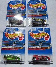 1999 MATTEL HOT WHEELS, GAME OVER SERIES, COMPLETE SET OF 4 CARS, NEW (3,B1)
