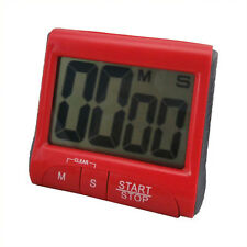 Large LCD Digital Kitchen Timer Count-Down Up Clock Loud Alarm OV