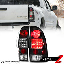 2005-2015 Toyota Tacoma [TRD STYLE] LED Black Tail Lights PAIR 2WD 4WD Xrunner