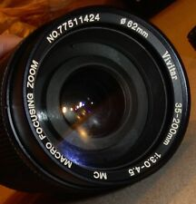 Vivitar 35-200mm 1:3.0-4.5 MC Macro Focusing Zoom Lens 62mm Japan