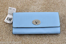 NWT Coach Slim Envelope Wallet with Pop-up Pouch in Crossgrain Leather 52983