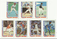 VINTAGE 1982 TOPPS BASEBALL CARDS – IN ACTION ALL STARS – MLB