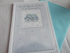 """Lovely Christening Day """"Wishes For A Special Godson"""" Card. Free P&P"""