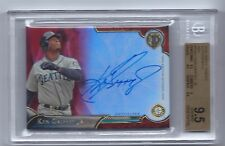 2016 Topps Tribute KEN GRIFFEY JR Auto Red Refractor 2/5  BGS 9.5 w/9 Auto Pop 1