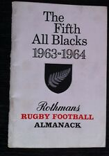 Il QUINTO All Blacks 1963-1964 Rugby Football ALMANACCO ROTHMANS