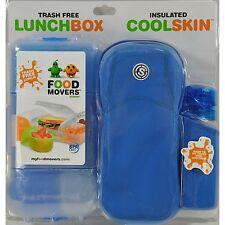 Food Movers Trash Free Lunch Box Set Blue BPA Free