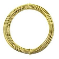Anodized Aluminum Wire 12 Gauge 39 Feet Light Gold 41968 Round Shiny